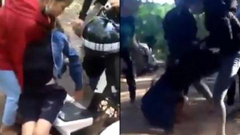 Nữ sinh bị đánh đến ngất do mâu thuẫn yêu đương