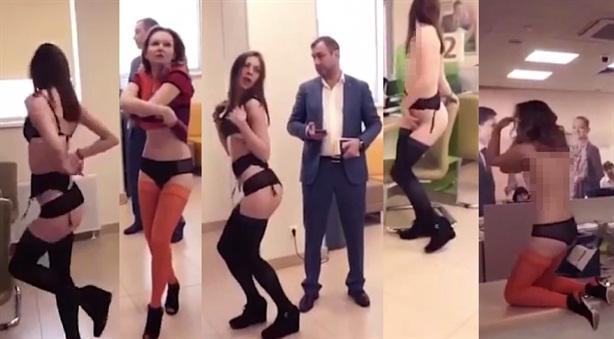 Nga: Vũ nữ được mời vào ngân hàng múa lõa thể