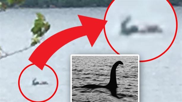 Quái vật hồ Loch Ness ngoi hơn nửa người trên mặt nước?