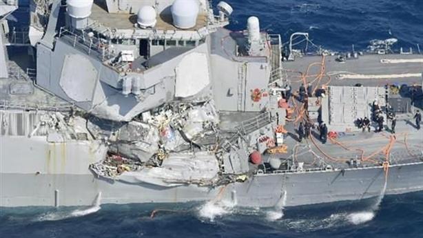 Mỹ lần đầu nhận trách nhiệm vụ USS Fitzgerald bị đâm bẹp