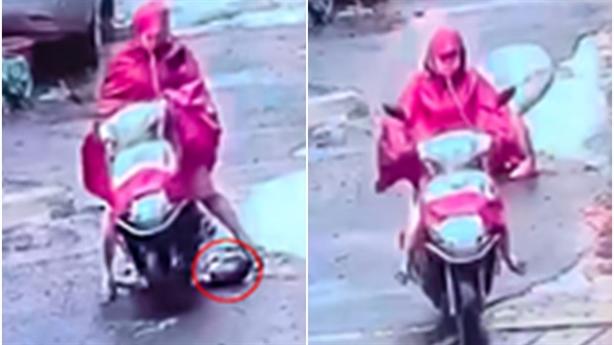 Video: Bà bầu chèn qua người bé trai rồi bỏ chạy
