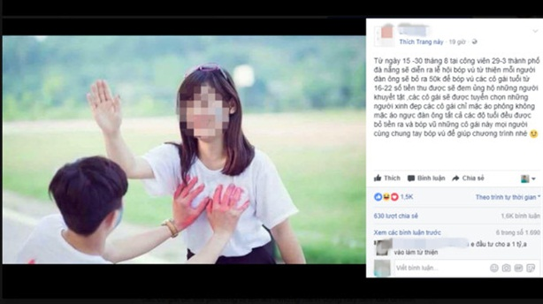 Tung tin sờ ngực thiếu nữ làm từ thiện: Rất phản cảm