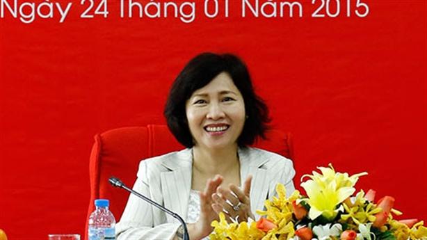 Đề nghị Thủ tướng miễn nhiệm Thứ trưởng Hồ Thị Kim Thoa