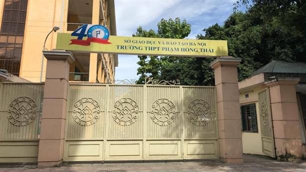 Trường Phạm Hồng Thái lên tiếng về phản ánh của giáo viên