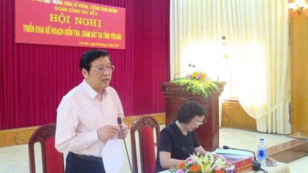 Trung ương kiểm tra việc chống tham nhũng ở Yên Bái