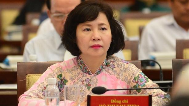Bà Hồ Thị Kim Thoa nộp đơn xin nghỉ việc lần 2