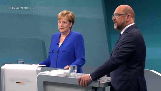 Tranh luận trực tiếp, Thủ tướng Merkel có cửa thắng áp đảo