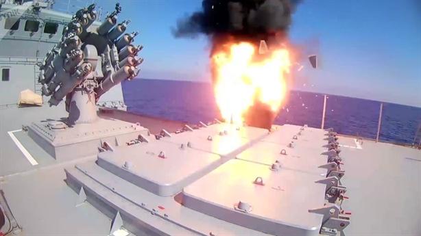 Chứng kiến khu trục hạm Essen phóng tên lửa Kalibr diệt IS