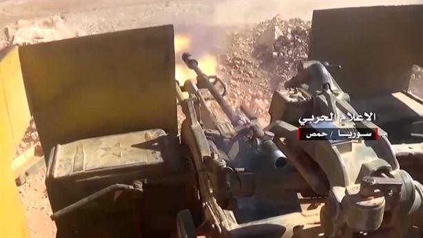 Syria dùng pháo phòng không tấn công mặt đất