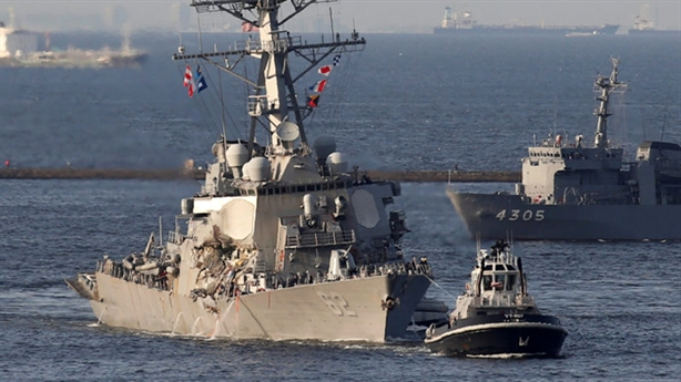 Chiến hạm Mỹ mất khả năng tàng hình trên Biển Đông