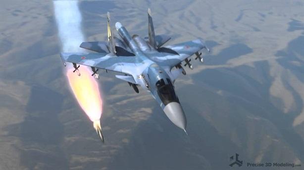 Su-35/34 dùng tên lửa siêu âm trút đòn thù