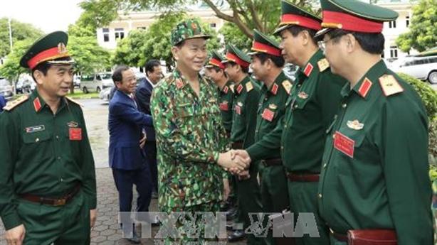Chủ tịch nước làm việc với Bộ Quốc phòng tại Miếu Môn