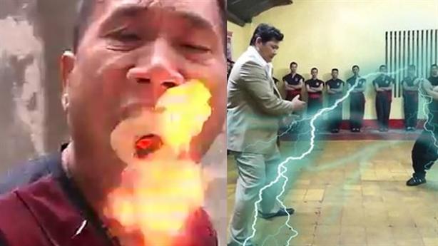Võ sư Trung Quốc phun được lửa mạnh hơn Huỳnh Tuấn Kiệt?