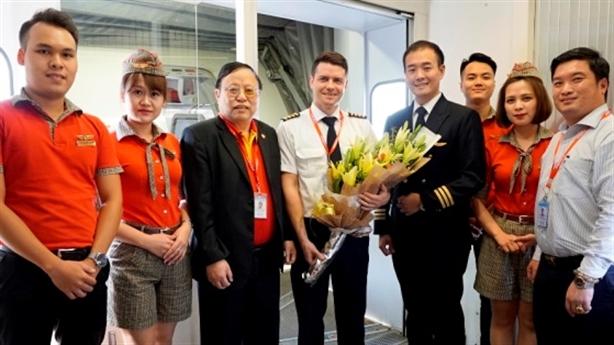 Vietjet tưng bừng khai trương đường bay Hà Nội–Cao Hùng(Đài Loan)