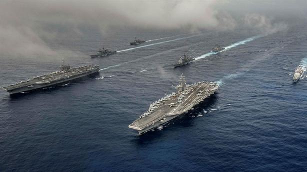 Ba tàu sân bay Mỹ khiến bán đảo Triều Tiên dậy sóng