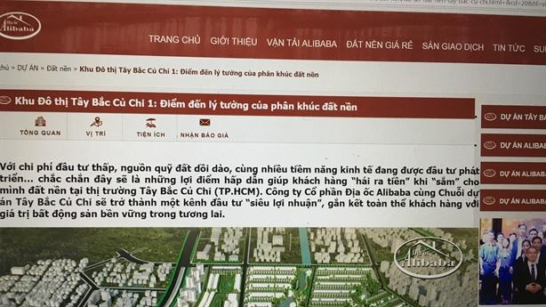 Địa ốc Alibaba tự phong chủ đầu tư, bán đất:Cảnh báo đỏ...