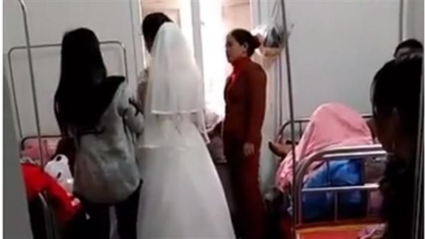 Tin mới vụ sản phụ mặc váy cưới khi vừa sinh con