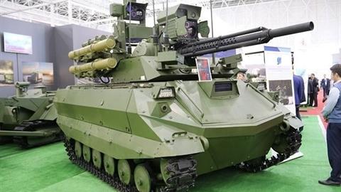 Dấu hiệu Trung Quốc sắp sở hữu robot Uran-9 của Nga