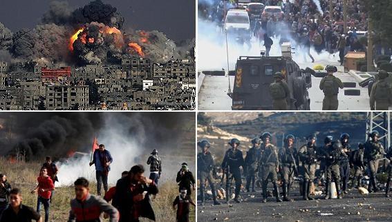 Jerusalem: Bắn đạn thật vào người Palestine, ném bom Dải Gaza