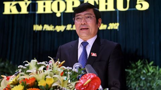 Cảnh cáo nguyên Chủ tịch UBND tỉnh Vĩnh Phúc