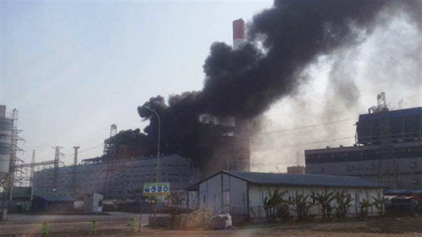 Bất ngờ cháy lớn tại nhà máy nhiệt điện Thái Bình 2
