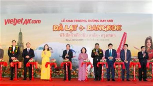 Vietjet tưng bừng khai trương đường bay Đà Lạt - Bangkok (Thái Lan)