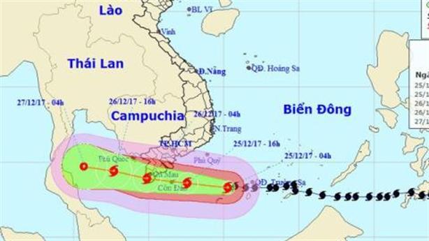 Tình hình bão số 16 mới nhất