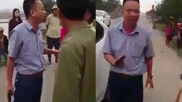 Kẻ rút súng dọa dân từng là biên phòng: 'Nhà mặt tiền'