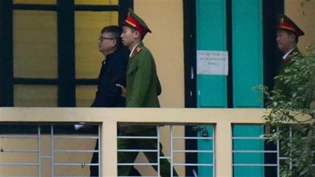 Vụ Trịnh Xuân Thanh: Hình ảnh ông Đinh Mạnh Thắng tại tòa