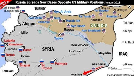 Nga lập thêm 4 căn cứ không quân Hama, Shayrat, Tiyas, Palmyra
