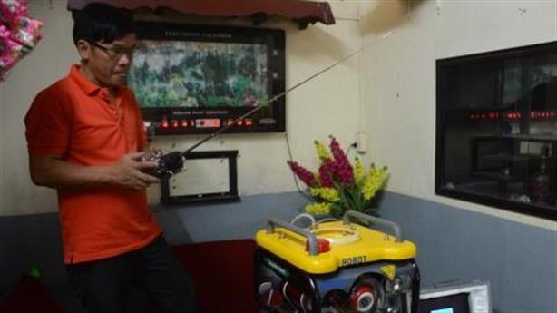 Hình ảnh bất ngờ về Robot thám hiểm sông Hương
