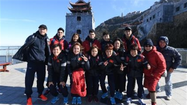 Những khoảnh khắc của U23 Việt Nam tại đỉnh thiêng Fansipan