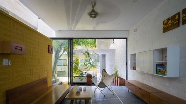 Ngôi nhà có kiến trúc văn hóa hai miền Nam Bắc