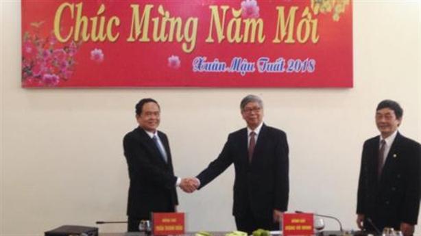 Chủ tịch Mặt trận Tổ quốc thăm Liên Hiệp Hội Việt Nam