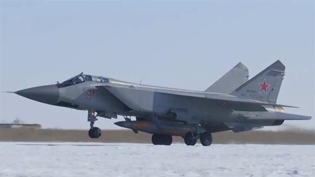 MiG-31 phóng siêu tên lửa Kinzhal