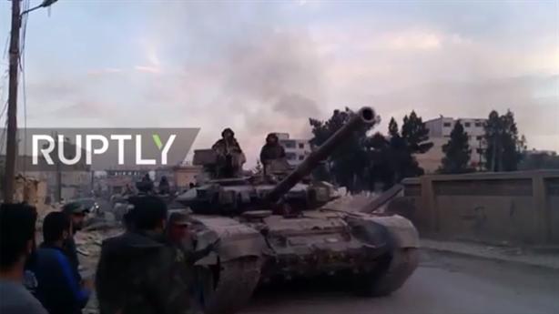 Syria dồn T-90A với thiết bị đặc biệt đến Đông Ghouta