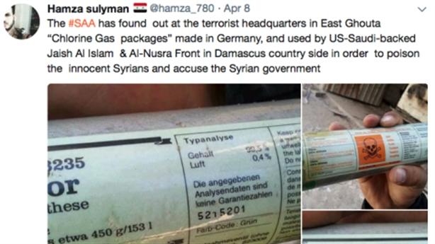 Kho vũ khí ở Đông Ghouta toàn hóa chất Đức và Salisbury
