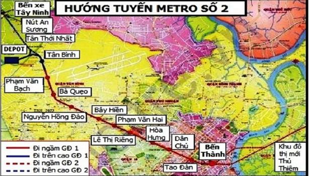 Trình Quốc hội điều chỉnh tổng mức đầu tư hai tuyến Metro-TP.HCM