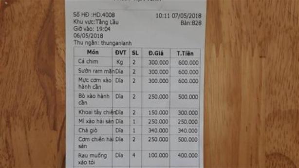 Khách Trung bị đánh vì không trả tiền: Rau muống 100.000 đồng/đĩa
