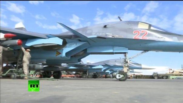 Một đòn của Su-34 diệt gọn trung tâm chỉ huy IS