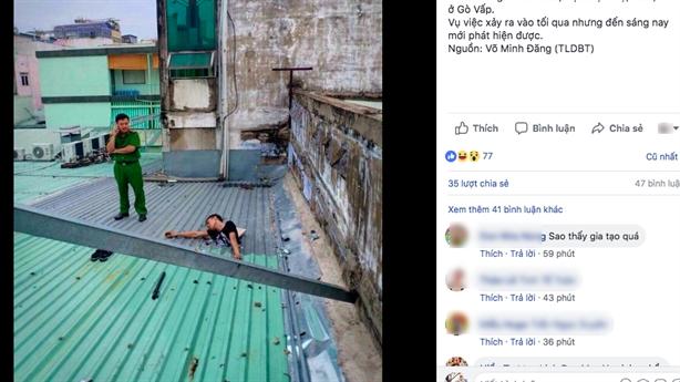 Trộm điện thoại xong bị mắc kẹt trên mái nhà