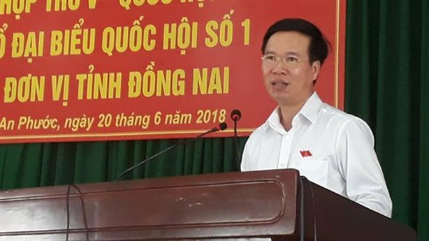 Ông Võ Văn Thưởng: Không bao giờ bán đất cho nước ngoài