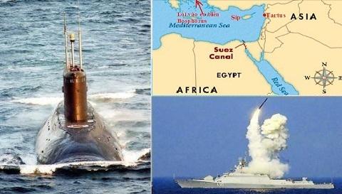 Tái lập Hạm đội 5 Liên-Xô, Nga khống chế Địa Trung Hải