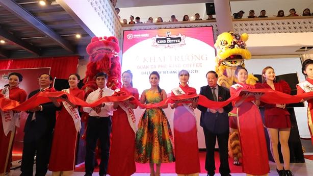King Coffee chính thức khai trương chuỗi quán tại Việt Nam