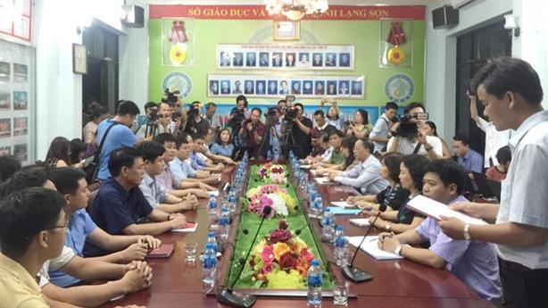 Kiểm tra bài thi ở Lạng Sơn: Chưa thấy sai phạm