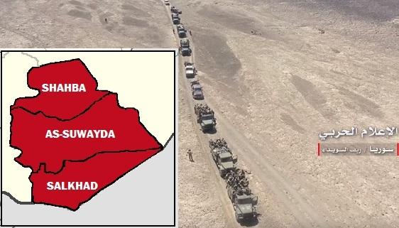 SAA đánh mạnh As-Suwayda, IS cắt râu về với Mỹ ở al-Tanf