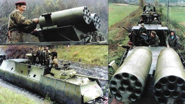 Kinh ngạc đoàn tàu bọc thép của Quân đội Nam Tư