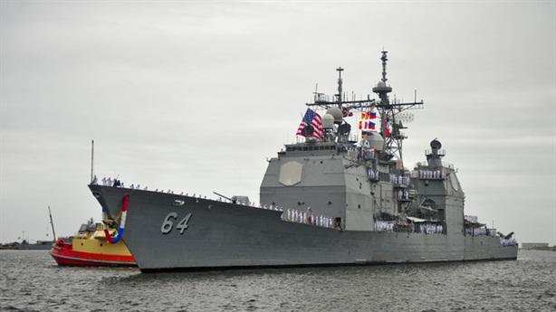 Mỹ nâng cấp khẩn tuần dương hạm đấu với Nga