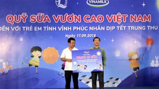 66.000 ly sữa đến trẻ em tỉnh Vĩnh Phúc dịp Trung thu