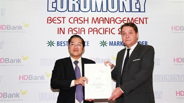 HDBank-NH có dịch vụ quản lý tiền mặt tốt nhất châu Á